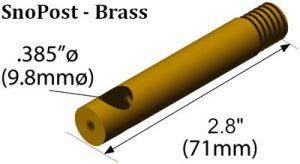 SnoPost Brass Graphic with Measurements