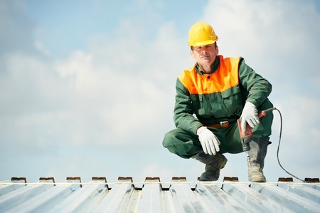 Metal Roofer Worker