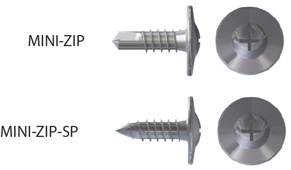 mini-zip screws