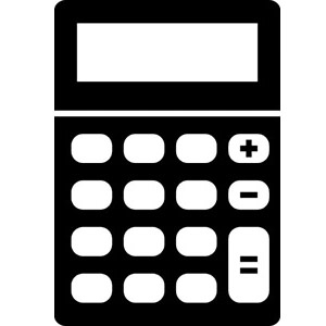 A icon of a calculator